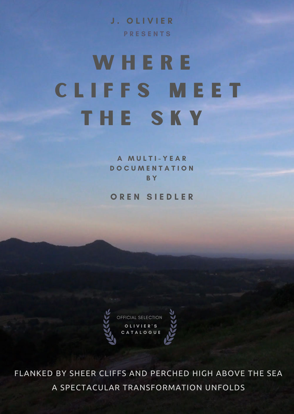 where cliffs meet the sky poster